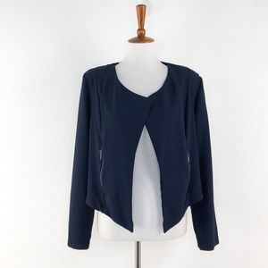 Lily Black Navy Open Front Jacket Blazer